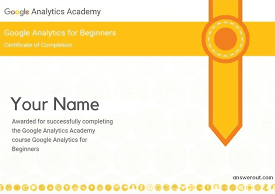 Google Analytics for Beginners Answers, Google Analytics for Beginners certification