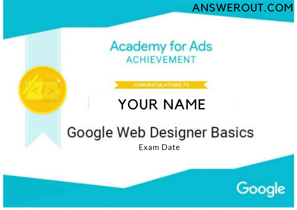 Google Web Designer Answers 2020 Answer Out