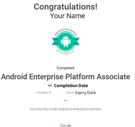 Android Enterprise Platform Associate Answers 2020 Answer Out
